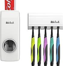 iLifeTech - Dispensador de Pasta de Dientes Automático y Portacepillos de Dientes – Práctico Set de Baño Familiar con Soporte de Cepillos de Dientes y Dosificador de Pasta Dental - Ideal Para Niños