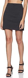 Marks & Spencer Women's A-Line Mini Skirt (4028_Charcoal_14)
