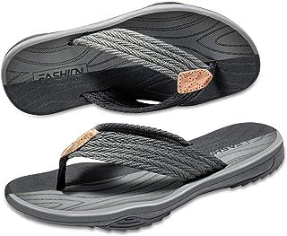 ykooe Men's Sandals, Fashion Flip Flops Soft EVA Casual Nonslip Shoes for Men