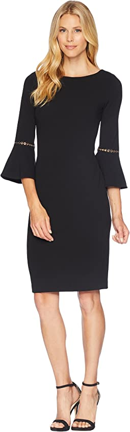 Bell Sleeve Dress with Hardwire Detail CD8C14LJ