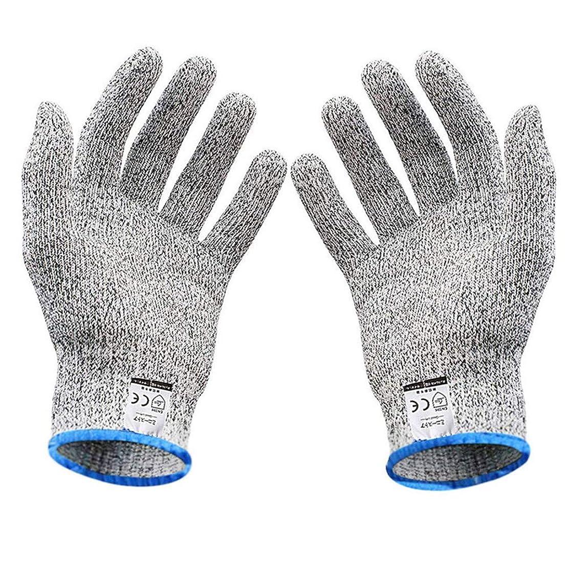 コイン気味の悪い圧力軍手 防刃 防刃手袋 作業用 手袋 作業グローブ 切れない手袋 耐切創手袋 (L(防刃5級))