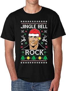 Allntrends Men's T Shirt Jingle Bell Rock Trendy Ugly Christmas Cool