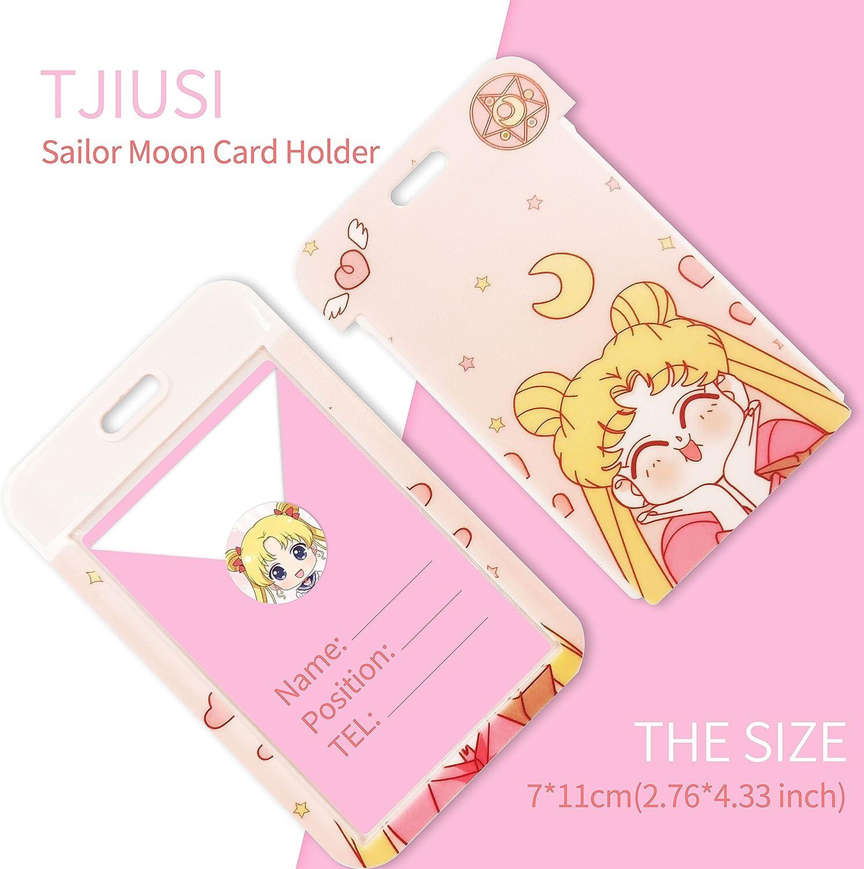 TJIUSI Sailor Pink Moon Lanyard for Keys ID Badge Holder 7x11x0.3, Pink