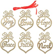 PIXNOR Pcs Christmas Hanging Ornats Wooden Embellishts, Wooden Mdf Faith Noel Tags As Shown
