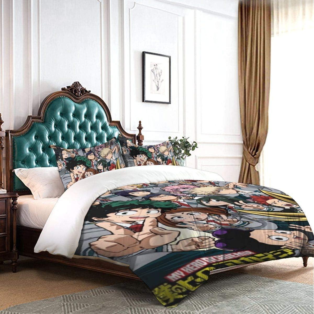 Superhero Design Bedding Set 3PCS Duvet Cover /& Pillowcases Comforter Cover Set