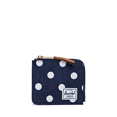 Herschel Supply Co. Jack RFID (Polka Dot Crosshatch Peacoat Small) Wallet Handbags