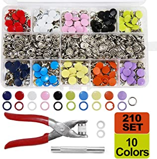 4 Components, 18pcs for Each 72pcs 15MM Stainless Steel Fastener Snap Press Stud Button for Marine Boat Canvas with Punching Set Tool Kit Gunmetal Black