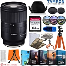 Tamron 28-75mm f/2.8 Di III RXD Lens for Sony E Cameras w/ 64GB Memory Card + Photo/Video Editing Software + Spider Flex Tripod & Basic Travel Accessory Bundle
