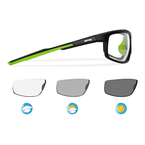 a77e79a175 Bertoni 180 Photochromic Polarizing Sports Cycling Running Golf Wraparound  Windproof Sunglasses - Antifog Lens - Adjustable