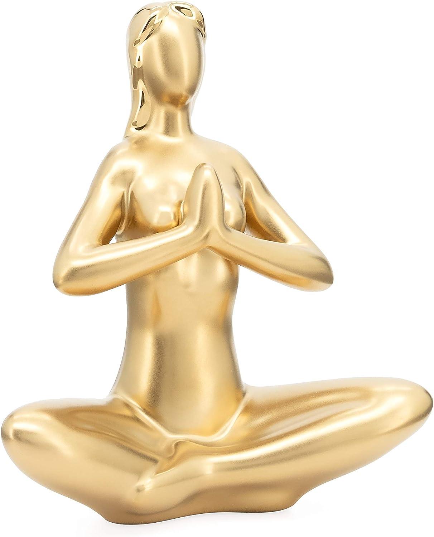 price Torre Tagus Yoga Matte Gold - Super sale period limited Sculpture Decor Ceramic Praying