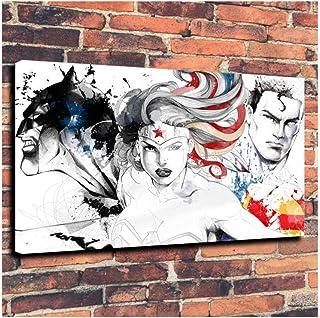 Superman Wonder Woman aquarelle impression sur toile HD film toile affiche peinture mur Art chambre décor à la maison oeuv...