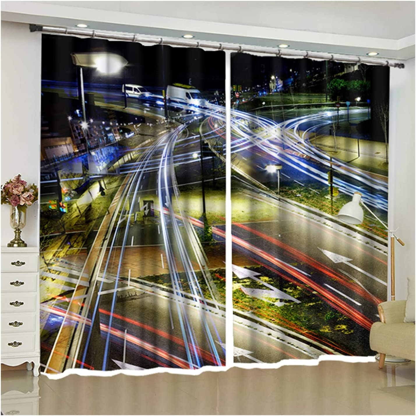 Daesar Curtain Modern Living All Rapid rise stores are sold Room 2 Panels Set Black of