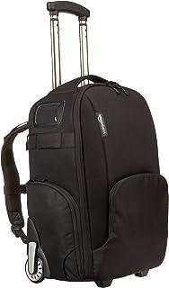 Amazon Basics Convertible Rolling Camera Backpack Bag - 15 x 22 x 10 Inches, Black