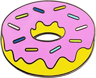 Donut Enamel Pin - Classic Simpsons Donut Pin for Backpacks, Jackets, Hats & Tops