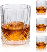 Meichu Crystal Whiskey Glasses set of 4, 11 Oz Old Fashioned Glasses Rocks Barware Gift for Scotch Lovers, Cognac, Bourbon...