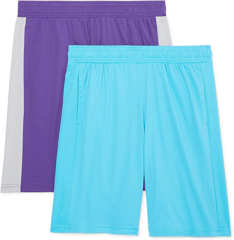 NEW Under Armour boys elastic waist shorts teal blue athletic sz 4 or 5