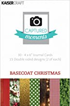 Kaisercraft Captured Moments Double-Sided Cards, 6 by 4-Inch, Basecoat Christmas ,30-Pack