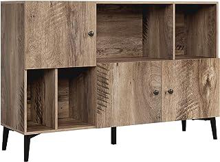 Homfa Bibliothèque Livres Commode Armoire de Rangement sur Pied Meuble TV pour Salon avec 3 Portes 4 Cubes Bois 108x30x72cm