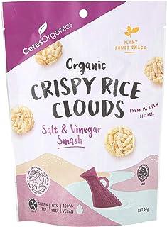 Ceres Organics Organic Crispy Rice Clouds Salt and Vinegar Smash, 50 g