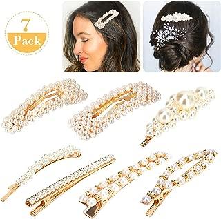 AOSTAR 女士女孩发夹 pearl hair clip
