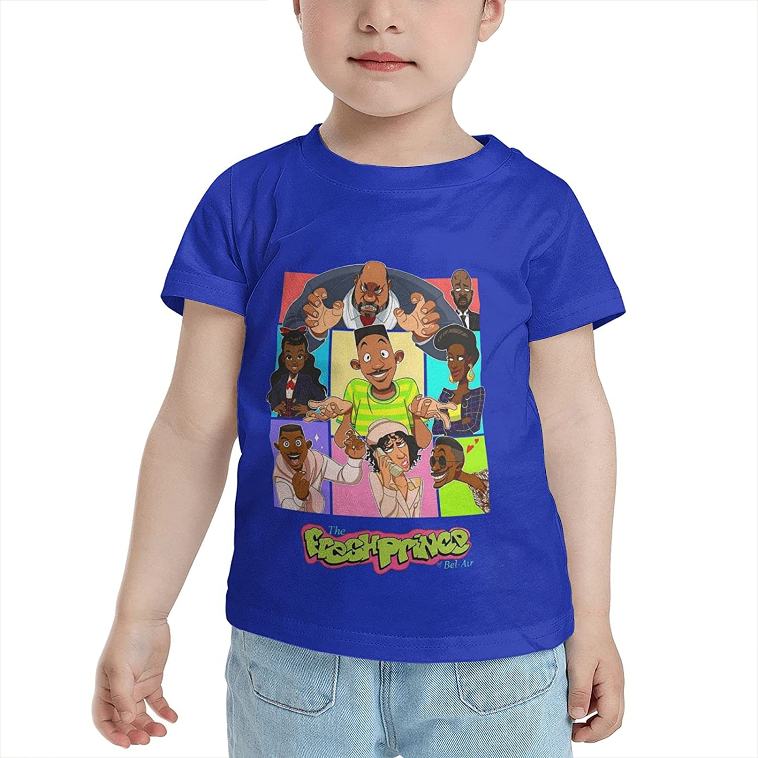 GONGQI Boys and Girls The Fresh Prince of Bel Air Ultra Soft Cotton Short Sleeve Shirt Child Casual Tee for 2-6 Years