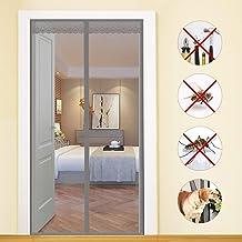 for Corridoi//Porte//Patio Zanzariera Magnetica per Porte 115x230cm Adsorbimento Magnetico Pieghevole Nero Si Chiude da Sola Zanzariera Magnetica
