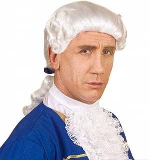 widmann C0868 Men'sColonial Style Wig, White