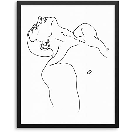 """Sincerely, Not Minimalist Line Drawing Man's Body Art Print Abstract Wall Poster 11x14 UNFRAMED Modern Fashion Artwork for Bedroom Living Room Bathroom Office (11""""x14"""" Man)"""