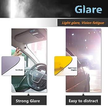 Adjustable Version Visor for Car Car Visor Sun Blocker Car Sun Visor Day//Night for Driving Winsall Visor for Car