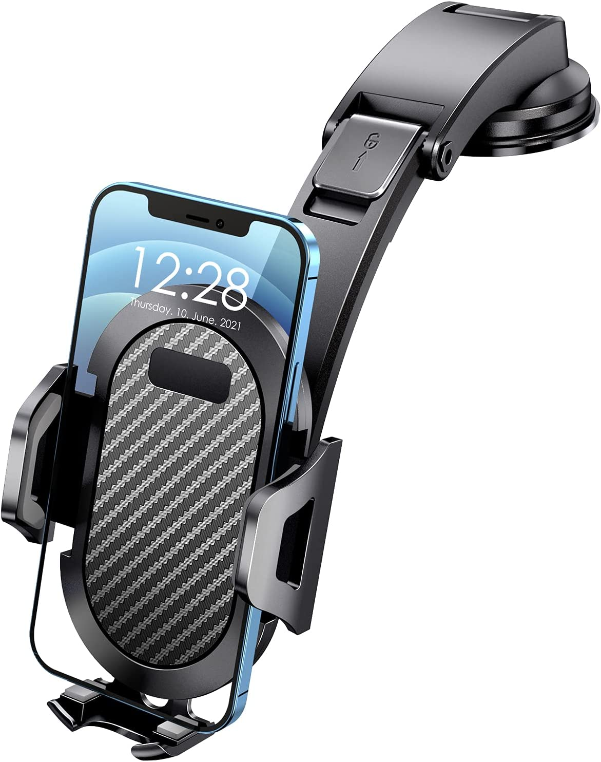 eSamcore Car Phone Mount, Suction Cup Dashboard Car Phone Holder with Recoverable Stickiness, Unobstructed View Cell Phone Automobile Cradles for iPhone 12 11 Samsung Galaxy S21 S20 More