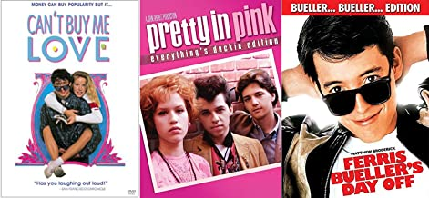 Ferris Bueller's Day Off & Pretty in Pink + Can't Buy Me Love... Fun Comedy 80's High School Teen movie Set