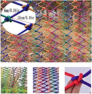 HWJ Children Railing Safety Net Room Partition Net Stairs Shatter-resistant Net Protection Net Ceiling Net Interior Decoration Net Hanging Clothes Net Nylon Rope Net  Size 1x1m