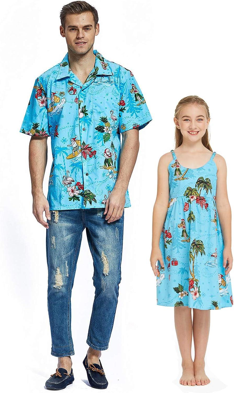 購買 Matching Father Daughter Hawaiian Luau 未使用品 Men Shir Outfit Christmas