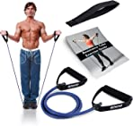 Atemi Sports Resistance Band with Handles | Free Resistance Band Door Anchor & PDF Exercise Guide | Resistance Tubes for Women or Men | Stretch Resistant Bands