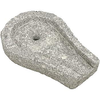 Dehner Bachlaufschale, konisch, ca. 50 x 36 x 9 cm, Granit, grau