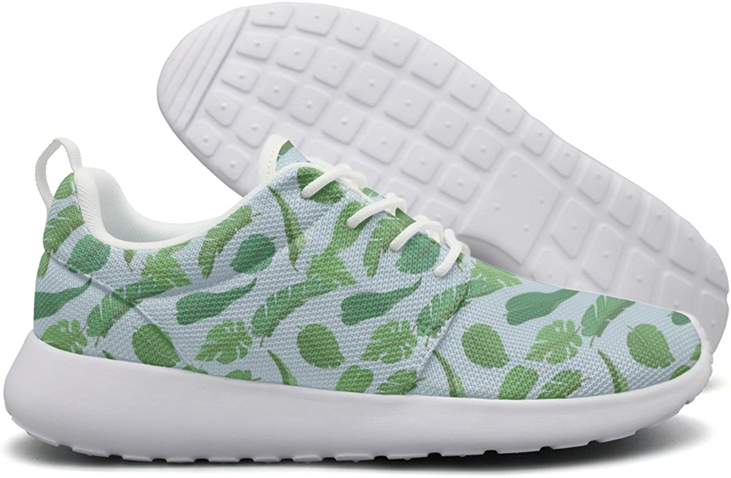 Tropical Plants Leaves Decor Women Neutral Design Running shoes Funny Comfortable