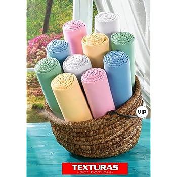 Sábana Bajera Adaptable Texturas VIP 150X190/200 cms Blanco (Algodón 100%): Amazon.es: Hogar