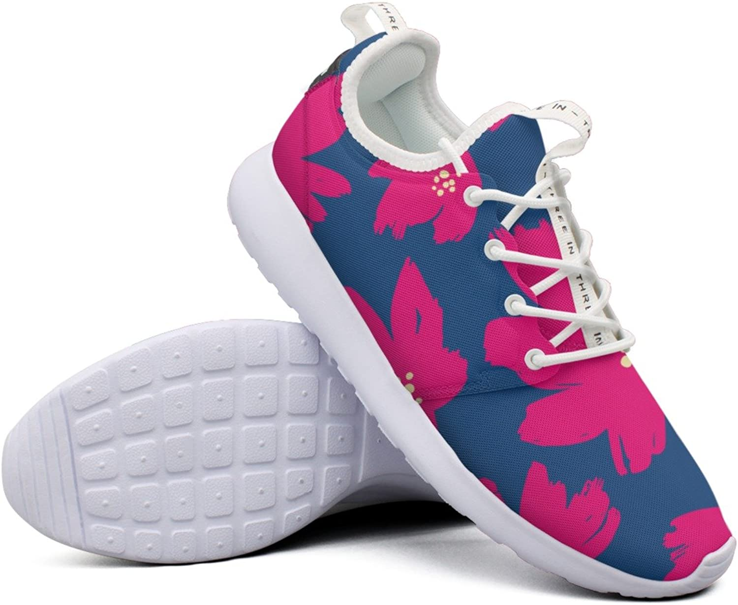 Women's Red Flowers colorful Camping Novelty Design Running shoes