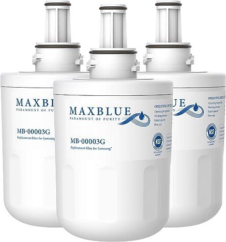 Maxblue 3X DA29-00003G Filtre à Eau pour Samsung Aqua Pure Plus DA29-00003G, DA29-00003B, DA29-00003A, DA97-06317A, D...