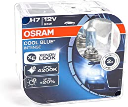 Osram H7 Cool Blue Intense - Lámpara para Faros Halógena, Automóvil de 12V, Estuche Doble (2unidades)