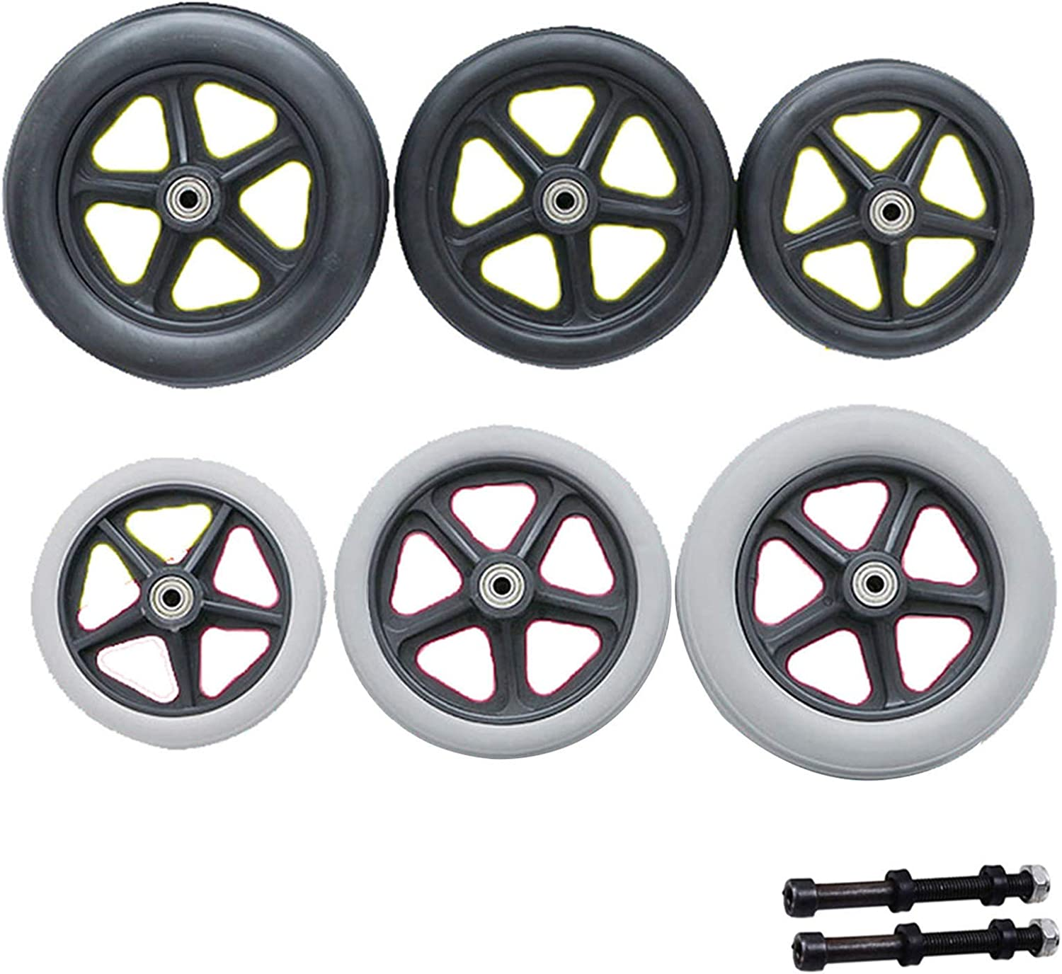 Gnova Replacement Award Wheelchair Casters Solid PVC Tire Spokes Rim 2021 5