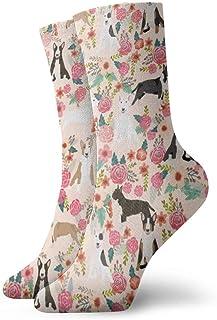 Elsaone, Calcetines con diseño de raza de perro Bull Terrier para hombres, mujeres, niños, trekking, rendimiento, exteriores 30 cm / 11.8 pulgadas