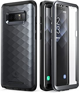 Samsung Galaxy Note 8 Case, Clayco [Hera Series] Full-Body Rugged Case with Built-in 3D Curved Screen Protector for Samsung Galaxy Note 8 (2017 Release) (Black)