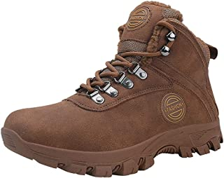 Men's Winter Snow Boots Waterproof Warm Insulated Non Slip Outdoorworke Trekking Ankle Bootie