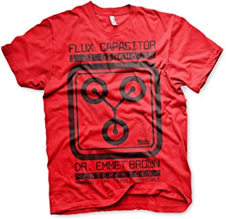 Officially Licensed Flux Capacitor Mens T-Shirt (Red)