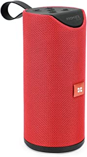 Promate Portable Bluetooth Speaker, Powerful Wireless 6W HD Stereo Sound Speaker with Mic, 1200mAh Built-in Battery, FM Ra...