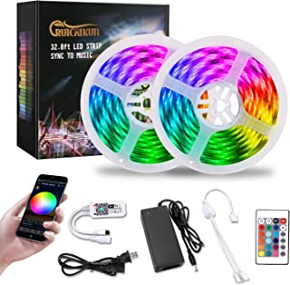 RUICAIKUN LED Strip Lights ,32.8ft WiFi Wireless LED Lights Strip,Waterproof 300 LED Lights with Remote Working with Android and iOS System,Alexa, Google Assistant