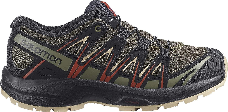 Salomon XA PRO 3D J Trail Running Shoe, Olive Night/Safari/Rooibos Tea