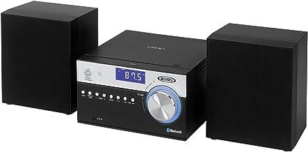 Jensen Modern Black Series JBS-200B Bluetooth CD Music System, NFC, Digital AM/FM Stereo..