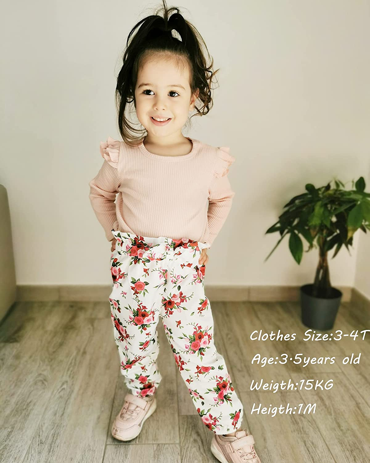 Buy Toddler Girl Clothes Baby Girl Fall Clothes Cute Floral ...